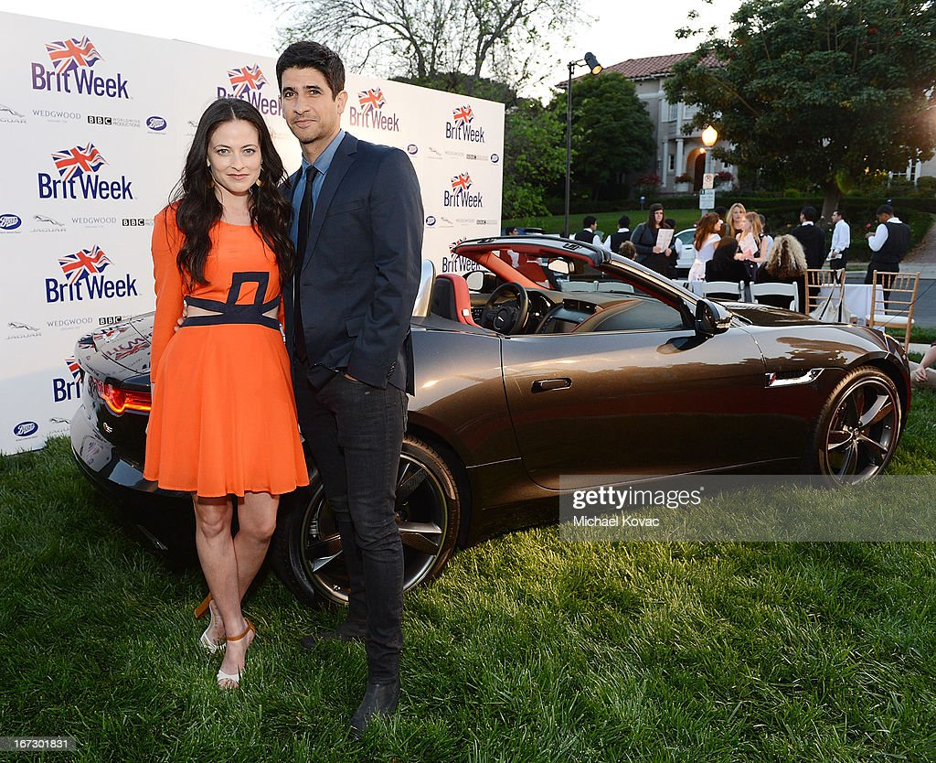 Actors Lara Pulver (L) and Raza Jaffrey attend the BritWeek Los Angeles Red Carpet Launch Party with Official Vehicle Sponsor Jaguar on April 23, 2013 in Los Angeles, California.