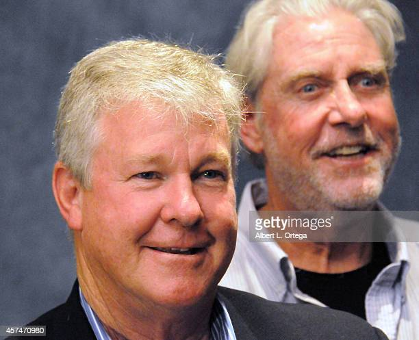 Actors Larry Wilcox and Paul Linke at The Hollywood Show held at Westin LAX Hotel on October 18 2014 in Los Angeles California