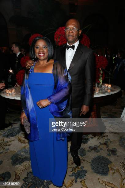 Actors Latanya Richardson and Samuel L Jackson attend the 68th Annual Tony Awards Gala at The Plaza Hotel on June 8 2014 in New York City