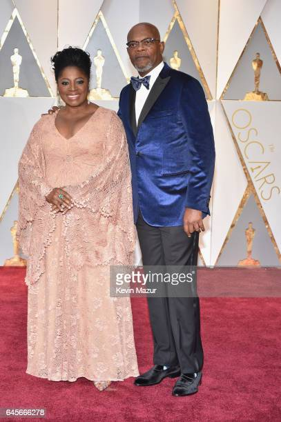 Actors LaTanya Richardson and Samuel L Jackson attend the 89th Annual Academy Awards at Hollywood Highland Center on February 26 2017 in Hollywood...