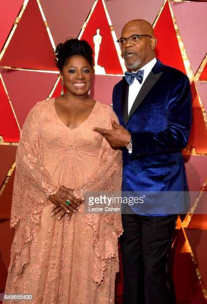 Actors LaTanya Richardson and Samuel L Jackson attends the 89th Annual Academy Awards at Hollywood Highland Center on February 26 2017 in Hollywood...