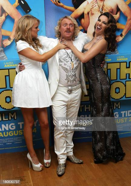 Actors Laura Aikman Leigh Francis and Kelly Brook attend the world premiere of 'Keith Lemon The Film' at Odeon West End on August 20 2012 in London...