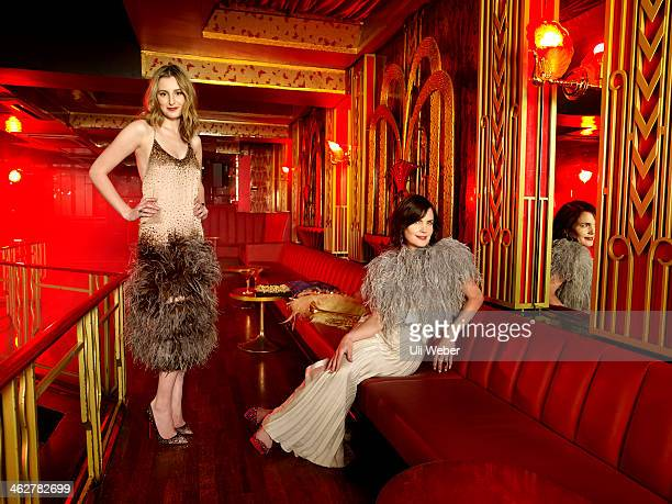 Actors Laura Carmichael and Elizabeth McGovern are photographed for Grazia on December 5 2013 in London England