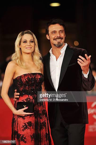 Actors Laura Chiatti and Alessandro Preziosi attend the 'Il Volto Di Un'Altra' Premiere during the 7th Rome Film Festival at the Auditorium Parco...