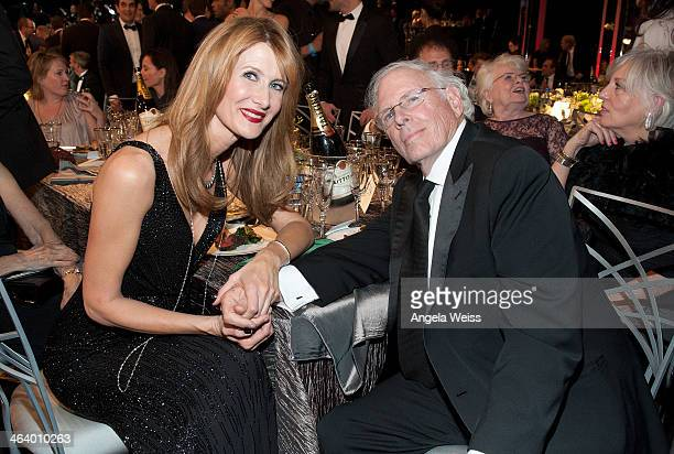 Actors Laura Dern and Bruce Dern attend the 20th Annual Screen Actors Guild Awards at The Shrine Auditorium on January 18 2014 in Los Angeles...