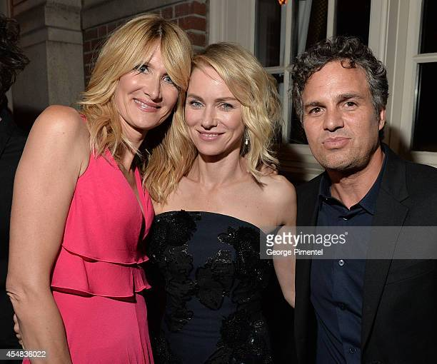 Actors Laura Dern Naomi Watts and Mark Ruffalo attend HFPA InStyle's 2014 TIFF Celebration at the Windsor Arms Hotel on September 5 2014 in Toronto...