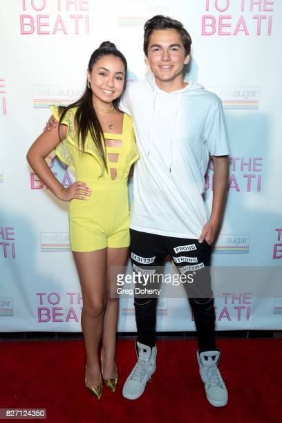 Actors Laura Krystine and Ashton Arbab arrive for the 'To The Beat' Special Screening at The Colony Theatre on August 6 2017 in Burbank California