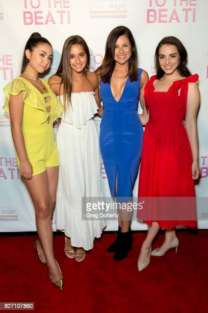 Actors Laura Krystine Brisa Lalich Marie Wilson and Veronica St Clair arrive for the 'To The Beat' Special Screening at The Colony Theatre on August...
