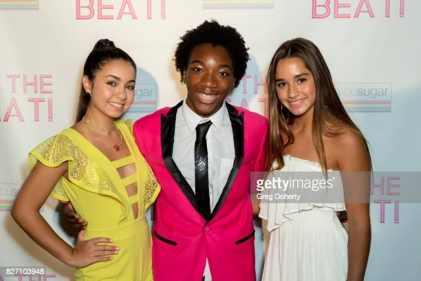 Actors Laura Krystine Jaheem Toombs and Brisa Lalich arrive for the 'To The Beat' Special Screening at The Colony Theatre on August 6 2017 in Burbank...