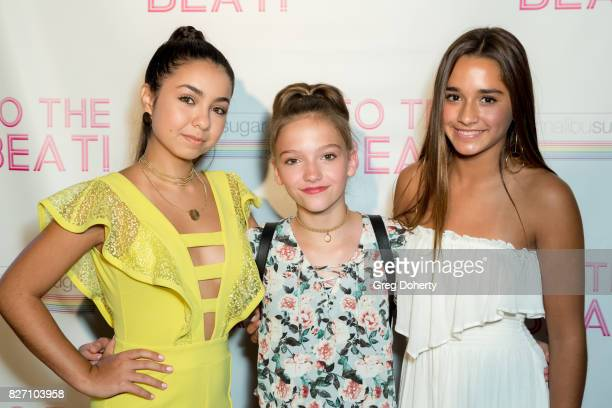 Actors Laura Krystine Jayden Bartels and Brisa Lalich arrive for the 'To The Beat' Special Screening at The Colony Theatre on August 6 2017 in...