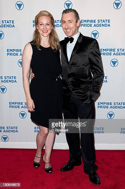 Actors Laura Linney and Alan Cumming attend the Empire State Pride Agenda's 20th Anniversary fall dinner at the Sheraton New York Hotel Towers on...