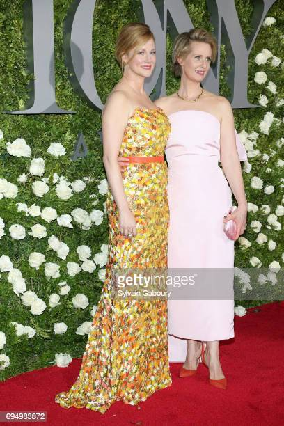 Actors Laura Linney and Cynthia Nixon attend the 2017 Tony Awards at Radio City Music Hall on June 11 2017 in New York City