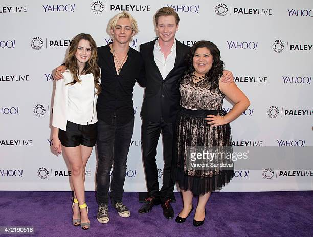 Actors Laura Marano Ross Lynch Calum Worthy and Raini Rodriguez attend The Paley Center For Media Presents Family Night 'Austin Ally' special...