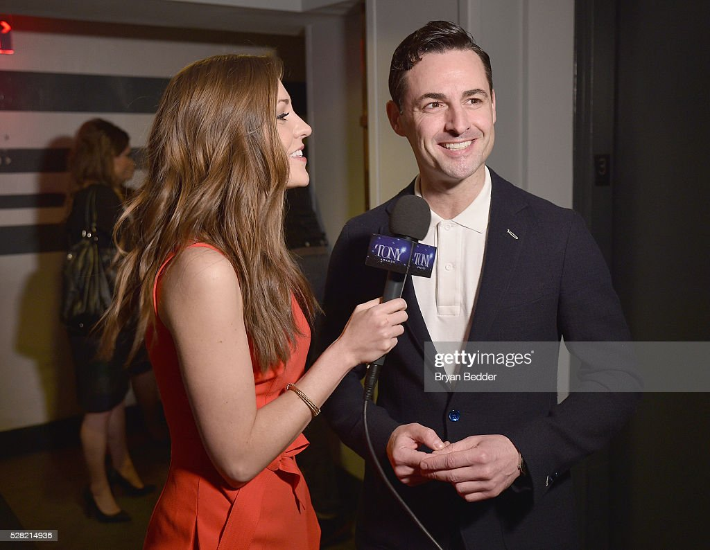 Actors <a gi-track='captionPersonalityLinkClicked' href=/galleries/search?phrase=Laura+Osnes&family=editorial&specificpeople=4213655 ng-click='$event.stopPropagation()'>Laura Osnes</a> (L) and Max von Essen attend the 2016 Tony Awards Meet The Nominees Press Reception on May 4, 2016 in New York City.