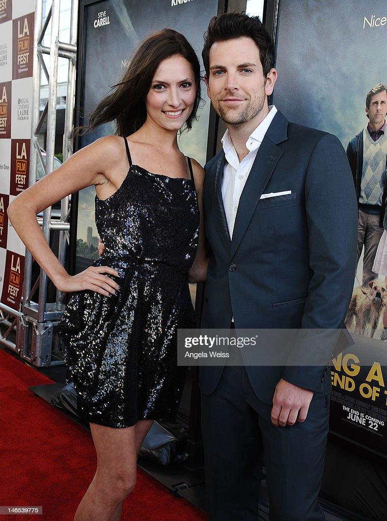Actors Laura Perloe and Chris Mann arrive at the premiere of 'Seeking a Friend for the End of the World' at the 2012 Los Angeles Film Festival held at Regal Cinemas L.A. Live on June 18, 2012 in Los Angeles, California.