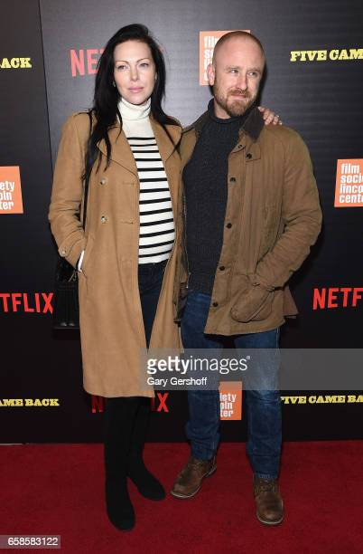 Actors Laura Prepon and Ben Foster attend the 'Five Came Back' world premiere at Alice Tully Hall at Lincoln Center on March 27 2017 in New York City