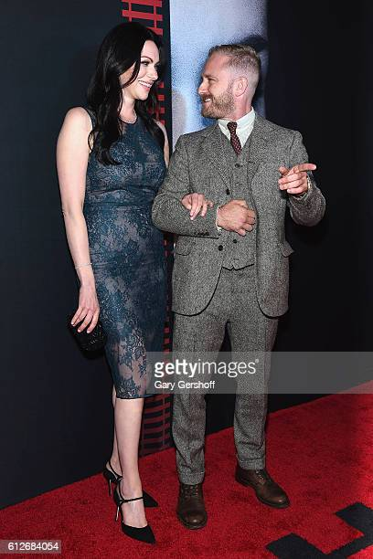 Actors Laura Prepon and Ben Foster attend 'The Girl on the Train' New York premiere at Regal EWalk Stadium 13 on October 4 2016 in New York City