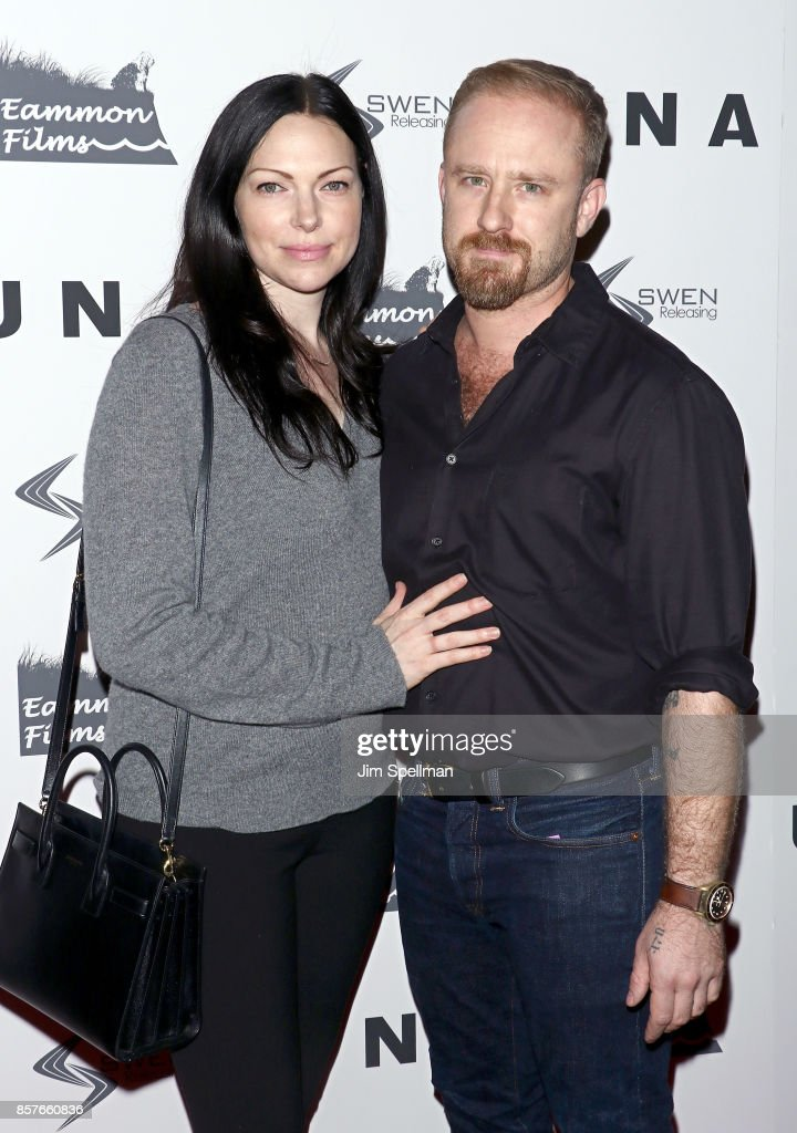 Actors Laura Prepon and Ben Foster attend the 'UNA' New York VIP screening at Landmark Sunshine Cinema on October 4, 2017 in New York City.