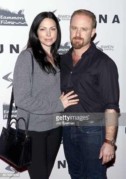 Actors Laura Prepon and Ben Foster attend the 'UNA' New York VIP screening at Landmark Sunshine Cinema on October 4 2017 in New York City