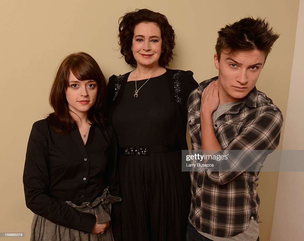 Actors Lauren Ashley Carter, Sean Young and Daniel Manche pose for a portrait during the 2013 Sundance Film Festival at the Getty Images Portrait Studio at Village at the Lift on January 22, 2013 in Park City, Utah.