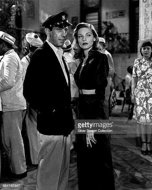 Actors Lauren Bacall as Marie 'Slim' Browning and Humphrey Bogart as Harry Morgan in the film 'To Have and Have Not' 1944