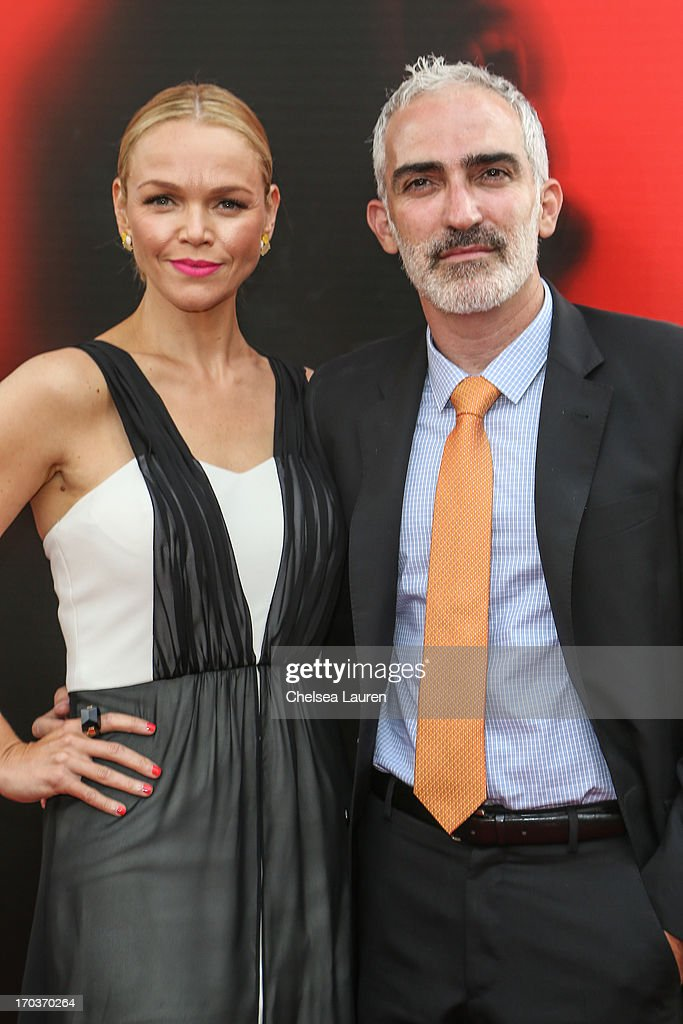 Actors Lauren Bowles (L) and Patrick Fischler arrive at HBO's 'True Blood' season 6 premiere at ArcLight Cinemas Cinerama Dome on June 11, 2013 in Hollywood, California.