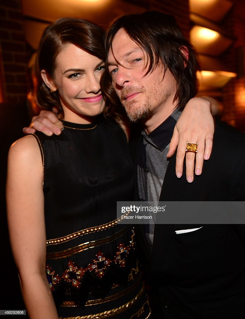 Actors Lauren Cohan and Norman Reedus attend Spike TV's 'Guys Choice 2014' at Sony Pictures Studios on June 7, 2014 in Culver City, California.