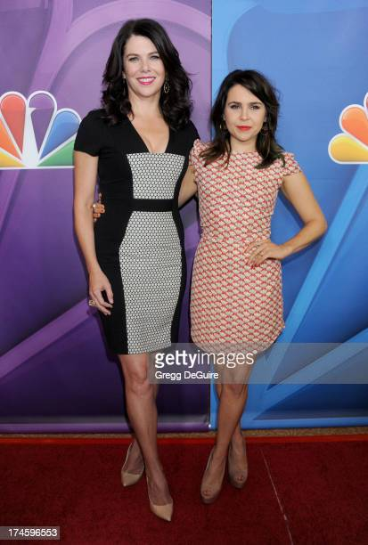 Actors Lauren Graham and Mae Whitman arrive at the 2013 NBC Television Critics Association's Summer Press Tour at The Beverly Hilton Hotel on July 27...