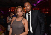 Actors Lauren London and Trey Songz attend the after party for the premiere of Fox Searchlight Pictures' 'Baggage Claim' at the Conga Room on...