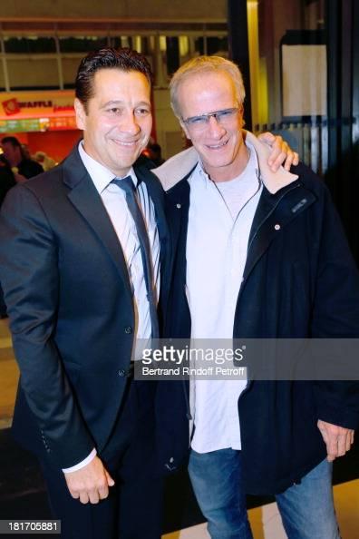 Actors Laurent Gerra and Christophe Lambert attend 'L'Escalier De Fer' with Laurent Gerra Private Screening in Paris on September 23 2013 in Paris...