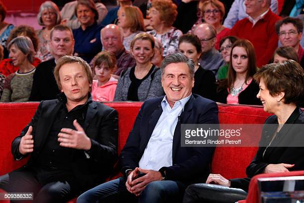 Actors Laurent Stocker and Daniel Auteuil present the Movie 'Les naufrages' and Catherine Laborde presents her Book 'Les chagrins ont la vie dure'...