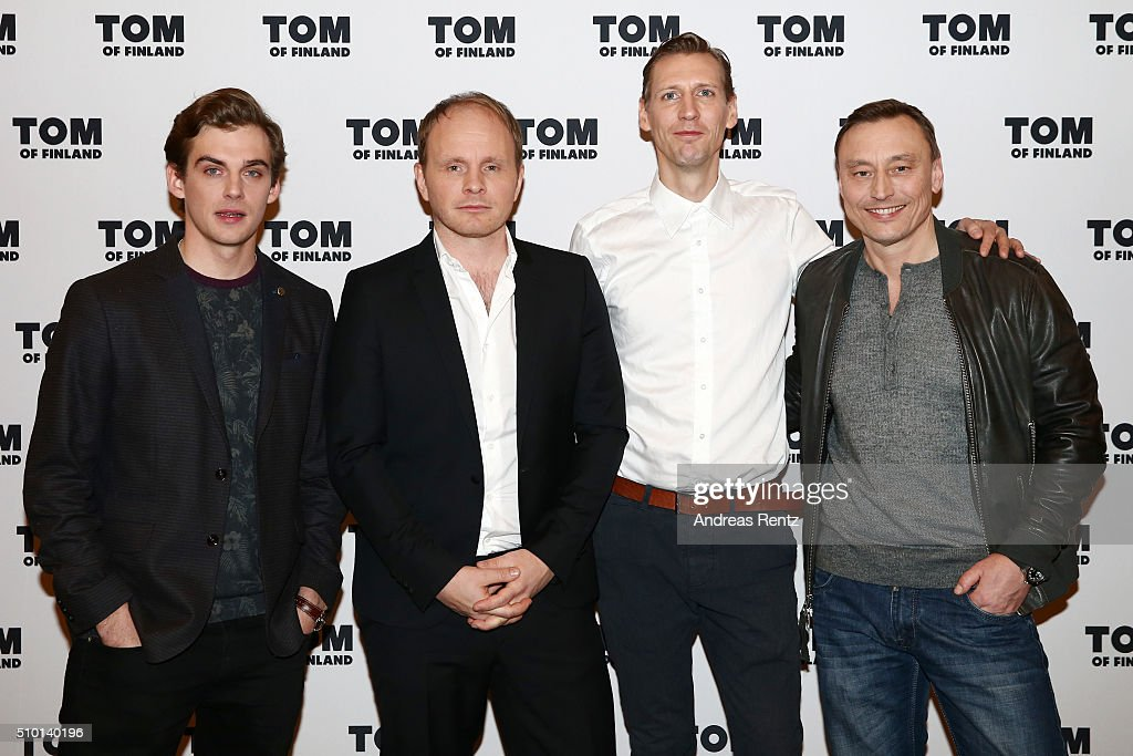 Actors Lauri Tilkanen, Pekka Strang, director Dome Karukoski and actor Werner Daehn attend the 'Tom of Finland' press conference during the 66th Berlinale International Film Festival Berlin at Ritz Carlton on February 14, 2016 in Berlin, Germany.