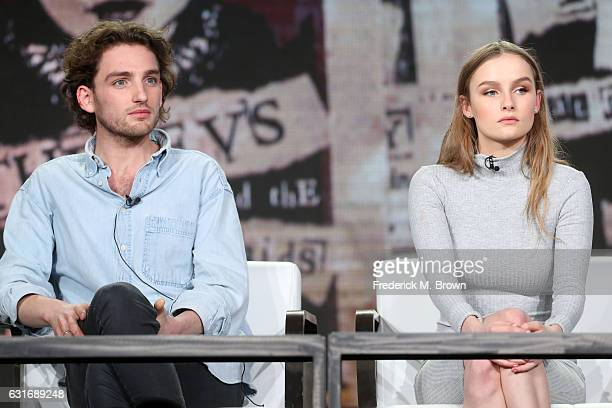 Actors Laurie Davidson and Olivia DeJonge of the series 'Will' speak onstage during the TNT portion of the 2017 Winter Television Critics Association...