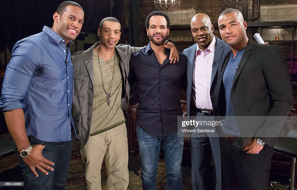 Actors Lawrence Saint Victor, Aaron D. Spears, <a gi-track='captionPersonalityLinkClicked' href=/galleries/search?phrase=Kristoff+St.+John&family=editorial&specificpeople=217523 ng-click='$event.stopPropagation()'>Kristoff St. John</a>, <a gi-track='captionPersonalityLinkClicked' href=/galleries/search?phrase=Kevin+Frazier&family=editorial&specificpeople=721972 ng-click='$event.stopPropagation()'>Kevin Frazier</a> and Redaric Williams attend <a gi-track='captionPersonalityLinkClicked' href=/galleries/search?phrase=Kevin+Frazier&family=editorial&specificpeople=721972 ng-click='$event.stopPropagation()'>Kevin Frazier</a> hosts roundtable discussion with CBS Daytime's NAACP Award Nominees at The Sayers Club on February 14, 2014 in Hollywood, California.