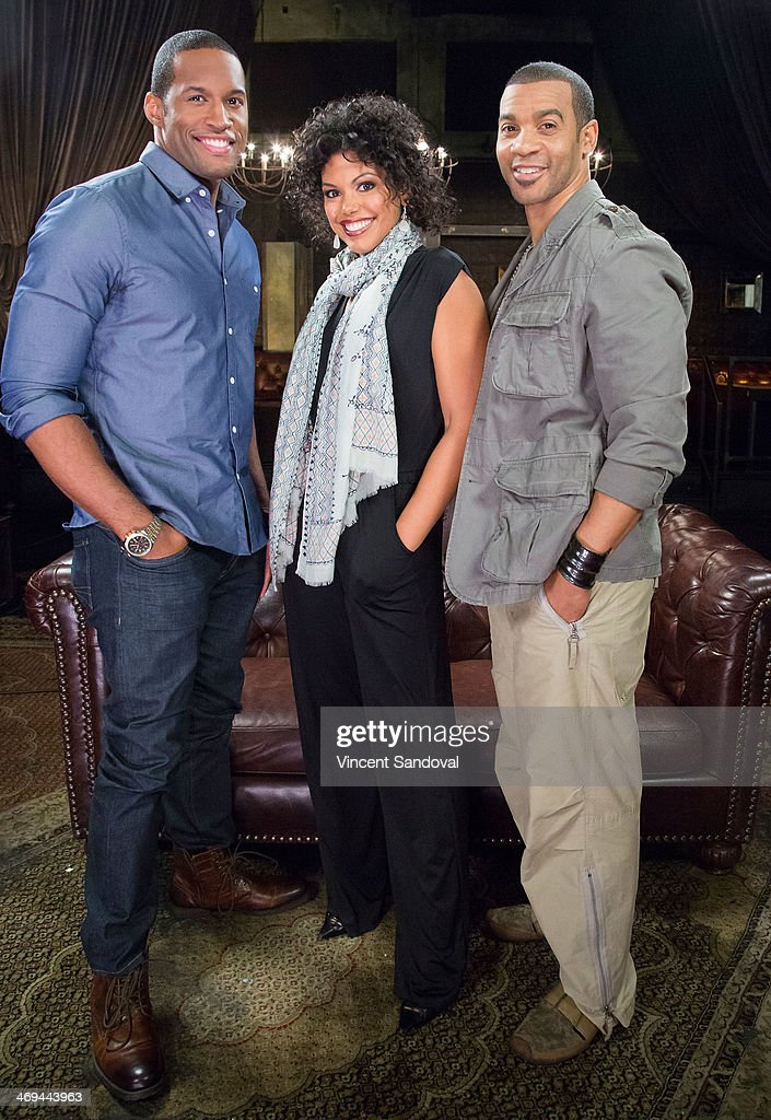 Actors Lawrence Saint Victor, Karla Mosley and Aaron D. Spears attend Kevin Frazier hosts roundtable discussion with CBS Daytime's NAACP Award Nominees at The Sayers Club on February 14, 2014 in Hollywood, California.