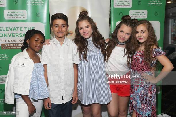 Actors Layla Crawford Chiara D'Ambrosio Bianca D'Ambrosio and Alyssa DeBoisblanc attend the DoctorFrankcom Memorial Day Yacht Cruise on May 29 2017...
