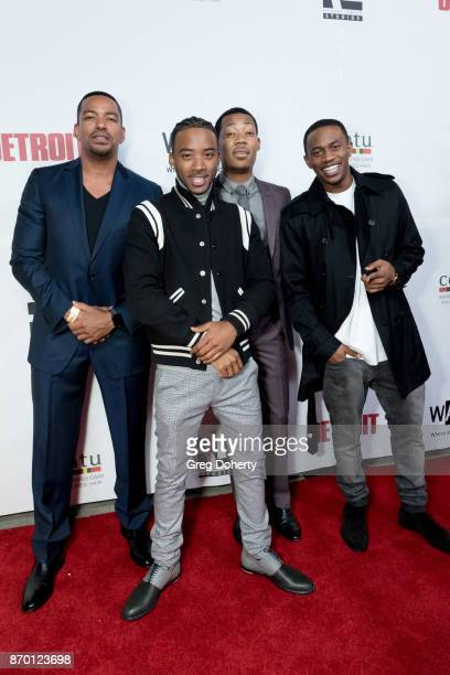Actors Laz Alonso Algee Smith Tyler James Williams and Malcolm David Kelly attend Richard Lawson and Tina Knowles Lawson Launch at the WACO Theater...