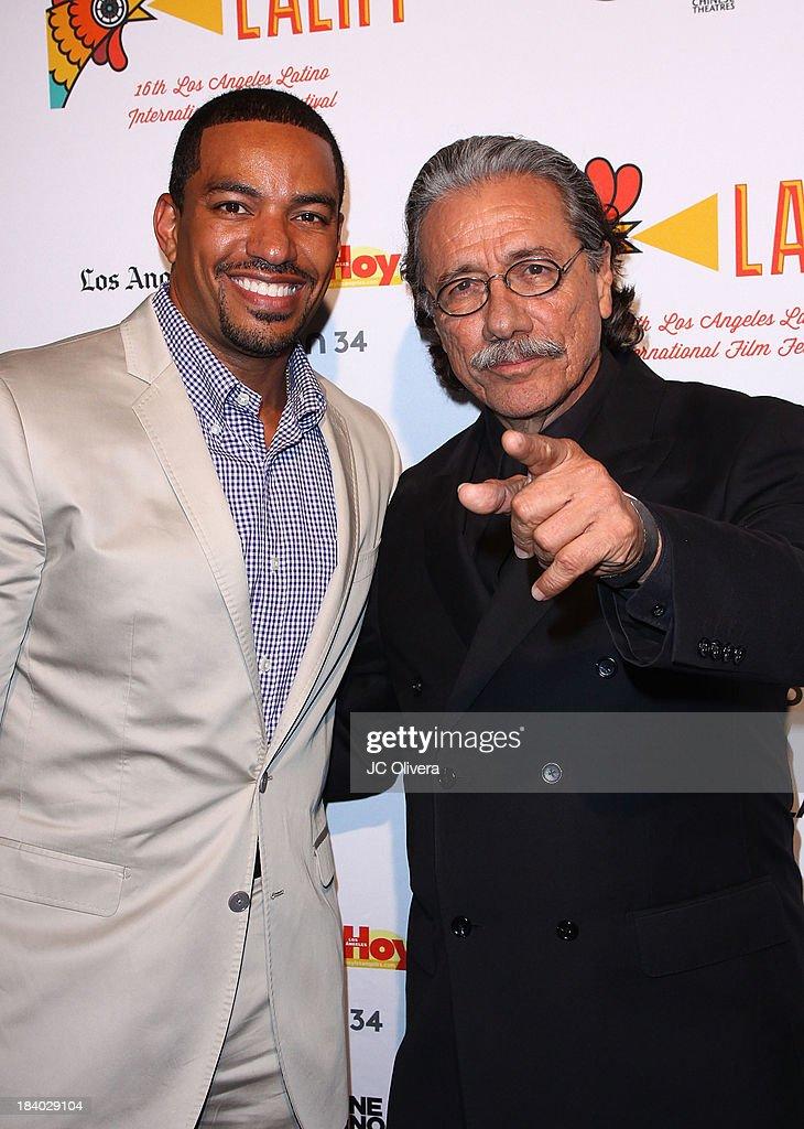 Actors <a gi-track='captionPersonalityLinkClicked' href=/galleries/search?phrase=Laz+Alonso&family=editorial&specificpeople=2179533 ng-click='$event.stopPropagation()'>Laz Alonso</a> (L) and <a gi-track='captionPersonalityLinkClicked' href=/galleries/search?phrase=Edward+James+Olmos&family=editorial&specificpeople=213817 ng-click='$event.stopPropagation()'>Edward James Olmos</a> attend The 2013 Los Angeles Latino International Film Festival - Opening Night Gala Premiere of 'Pablo' at the El Capitan Theatre on October 10, 2013 in Hollywood, California.