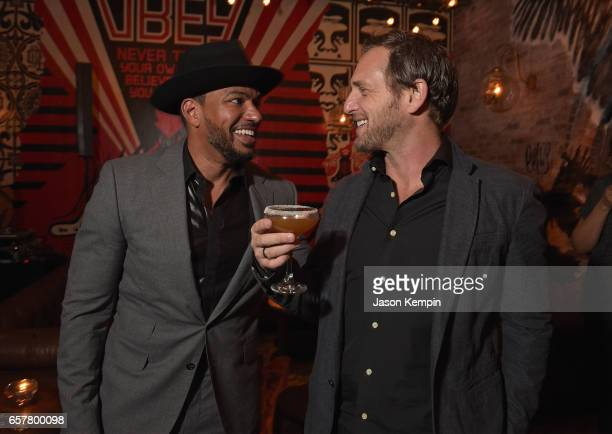 Actors Laz Alonso and Josh Lucas attend the Remy Martin Culture Creators birthday celebration for Laz Alonso at Vandal on March 25 2017 in New York...