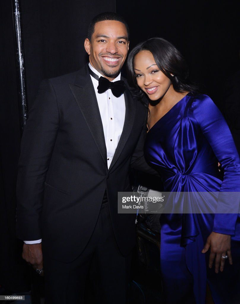 Actors Laz Alonso (L) and Meagan Good attend the 44th NAACP Image Awards at The Shrine Auditorium on February 1, 2013 in Los Angeles, California.