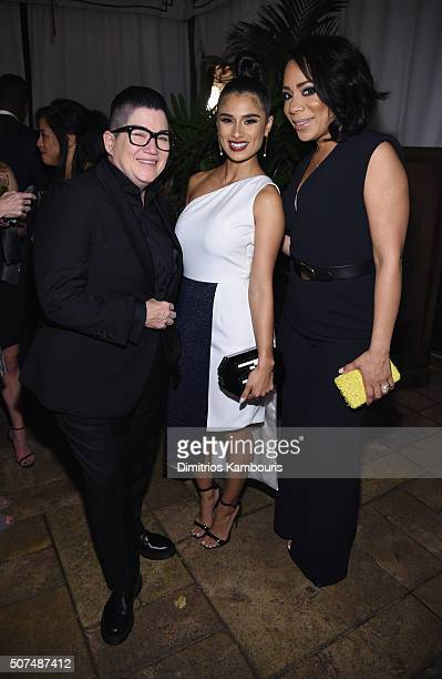 Actors Lea DeLaria Diane Guerrero and Selenis Leyva attend Entertainment Weekly Celebration Honoring The Screen Actors Guild Awards Nominees...