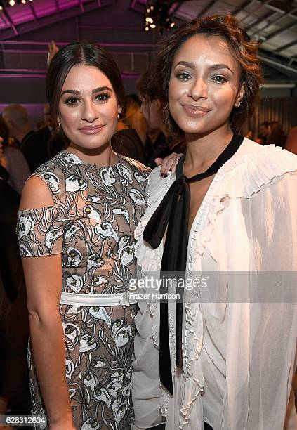 Actors Lea Michele and Kat Graham attend The Hollywood Reporter's Annual Women in Entertainment Breakfast in Los Angeles at Milk Studios on December...