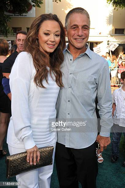 Actors Leah Remini and Tony Danza arrive at the Los Angeles premiere of 'Zookeeper' at Regency Village Theatre on July 6 2011 in Westwood California