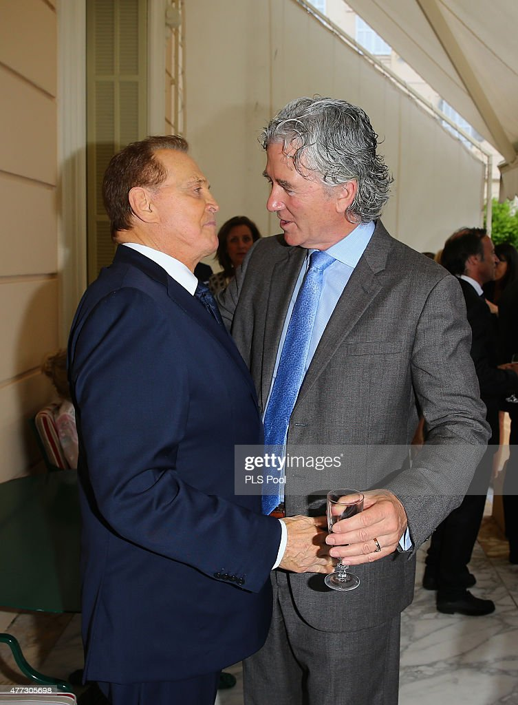 Actors Lee Majors and Patrick Duffy attend the 55th Monte Carlo TV Festival : Day 3 on June 15, 2015 in Monte-Carlo, Monaco.