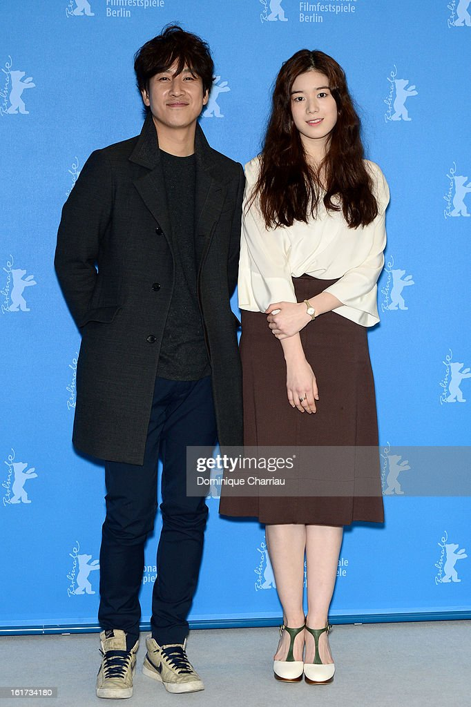 Actors Lee Sun Gyun and Jung Eun Chae attend the 'Nobody's Daughter Haewon' Photocall during the 63rd Berlinale International Film Festival at the Grand Hyatt Hotel on February 15, 2013 in Berlin, Germany.