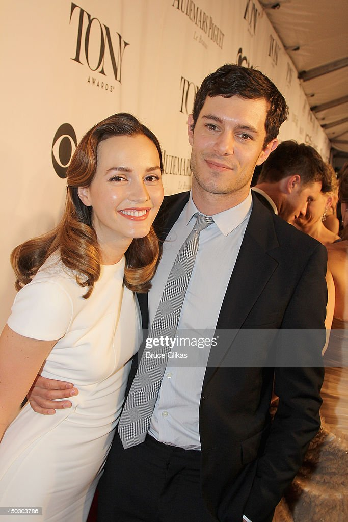 Actors <a gi-track='captionPersonalityLinkClicked' href=/galleries/search?phrase=Leighton+Meester&family=editorial&specificpeople=3947554 ng-click='$event.stopPropagation()'>Leighton Meester</a> (L) and <a gi-track='captionPersonalityLinkClicked' href=/galleries/search?phrase=Adam+Brody&family=editorial&specificpeople=213610 ng-click='$event.stopPropagation()'>Adam Brody</a> attend the American Theatre Wing's 68th Annual Tony Awards at Radio City Music Hall on June 8, 2014 in New York City.