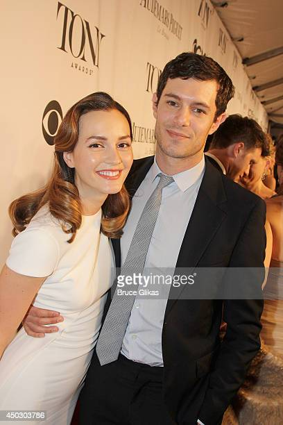 Actors Leighton Meester and Adam Brody attend the American Theatre Wing's 68th Annual Tony Awards at Radio City Music Hall on June 8 2014 in New York...