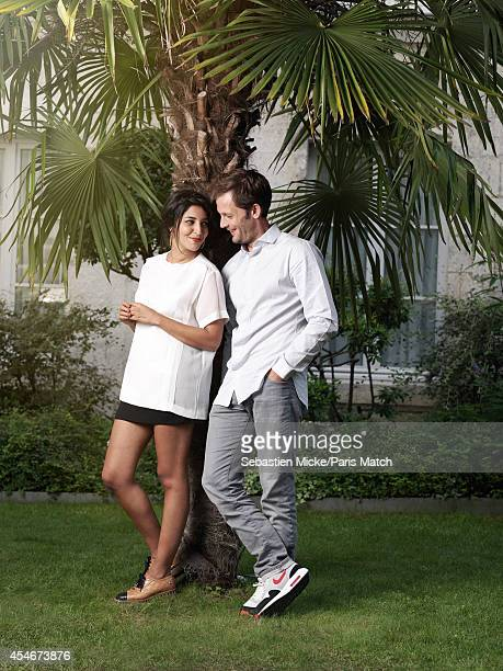 Actors Leila Bekhti and Nicolas Duvauchelle are photographed for Paris Match on August 22 2014 in Angouleme France