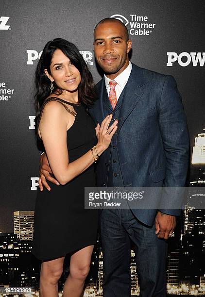 Actors Lela Loren and Omari Hardwick attend the Starz 'Power' premiere after party at Highline Ballroom on June 2 2014 in New York City