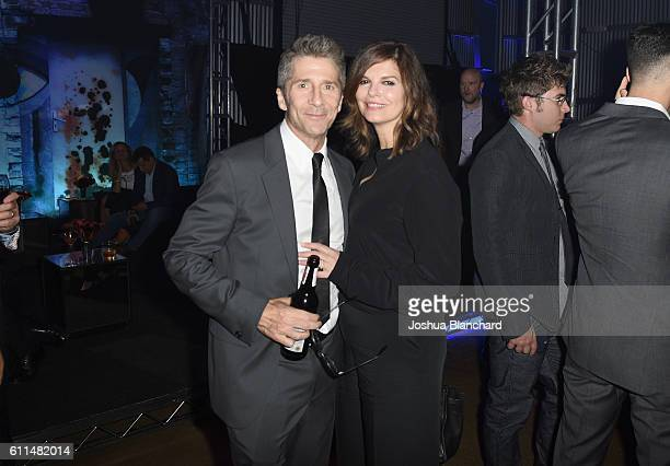 Actors Leland Orser and Jeanne Tripplehorn attend EPIX 'Berlin Station' LA premiere at Milk Studios on September 29 2016 in Los Angeles California